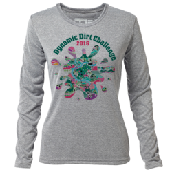 Dynamic Dirt Challenge - Womens Long Sleeve Hybrid T